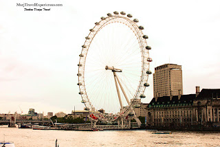 London Eye in South Bank of London City UK