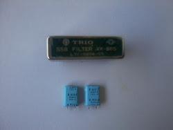 Jual second SSB Filter YK-88S ex Radio Kenwood lengkap dengan 2 bh X'tal BFO nya untuk USB dan LSB