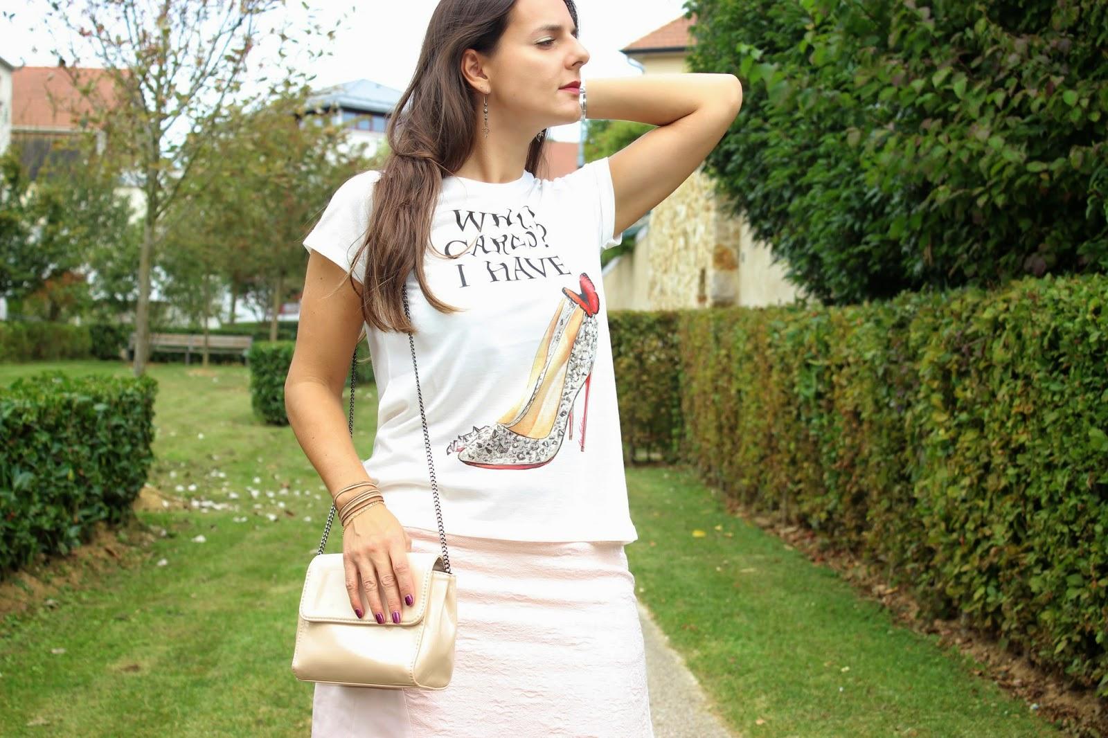 Top La Loba, jupe naf naf rose, sac Zara