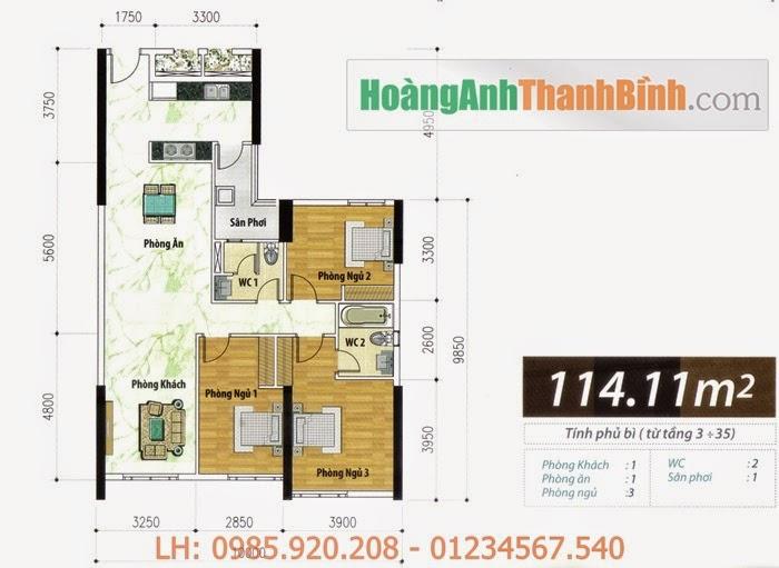 Căn hộ Hoàng Anh Thanh Bình 114m2 | HoangAnhThanhBinh.com