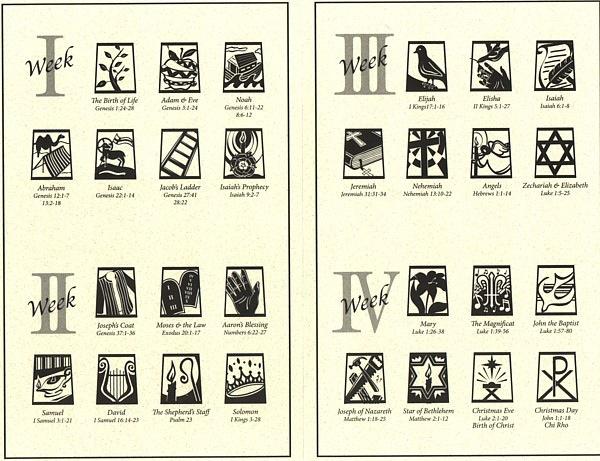 jesse tree symbols coloring pages free printable christmas symbols ...