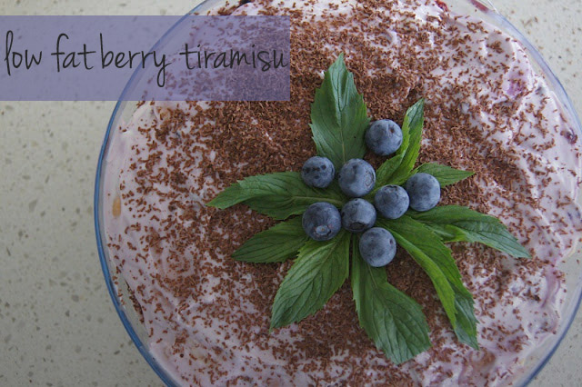 berry+copy - Festive Low Fat Yoghurt Berry Tiramisu