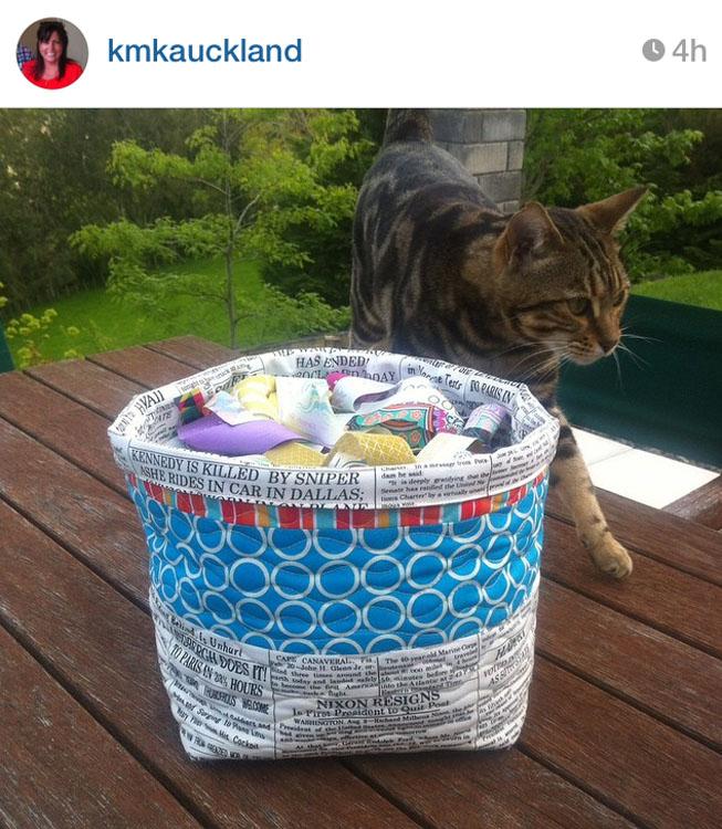 3rd Floor Basket - Made by Karina @kmkauckland // Pattern by Kristy Daum