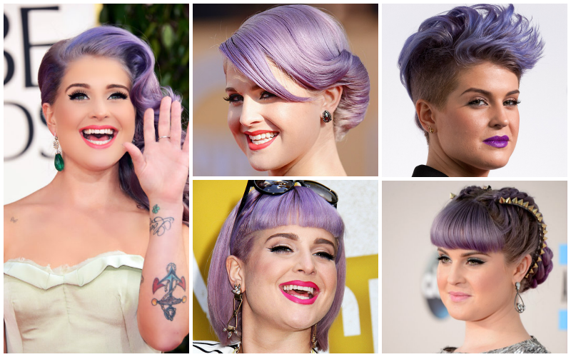 5 celebrities pastel hair capelli lavander Kelly Osbourne