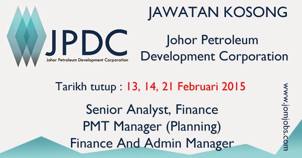 Jawatan Kosong Johor Petroleum Development Corporation (JPDC) 2015 Terkini