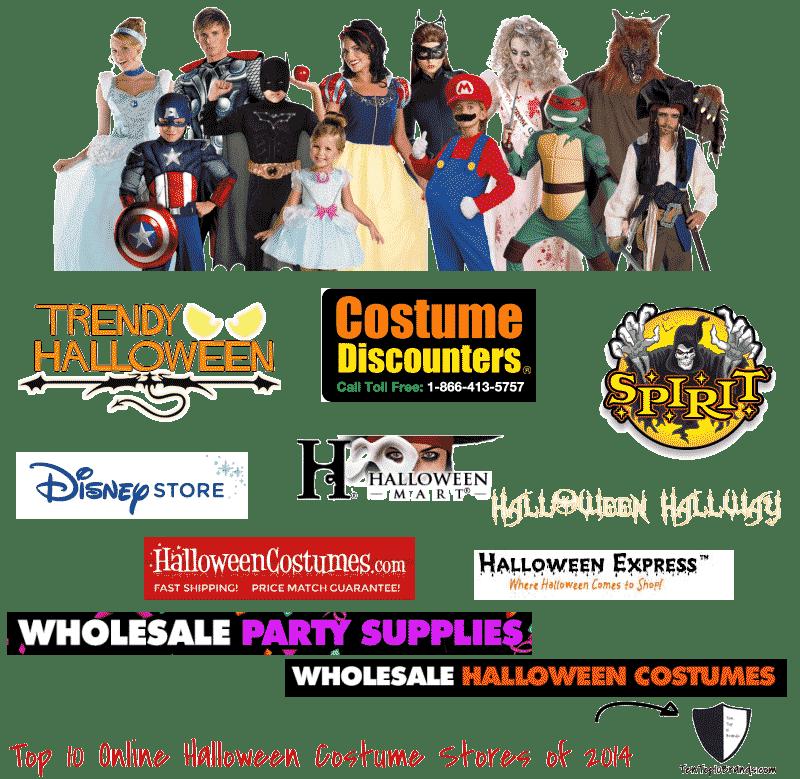 Top 10 Best Halloween Costume Stores Online 2014