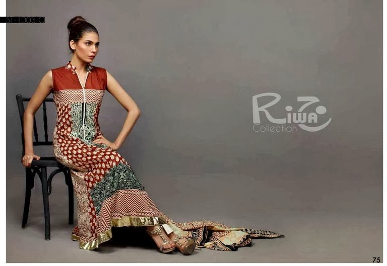 Sleeveless 3 piece Design of Lawn Collection