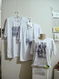 Camisas com desenhos de JF - da exposição Fábrica de Desenhos - Rose Valverde