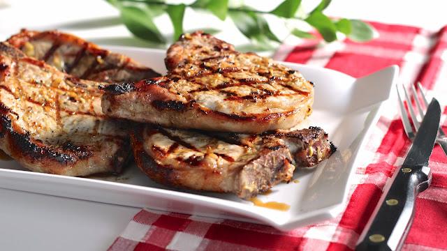 Grilled Lemongrass Pork Chops