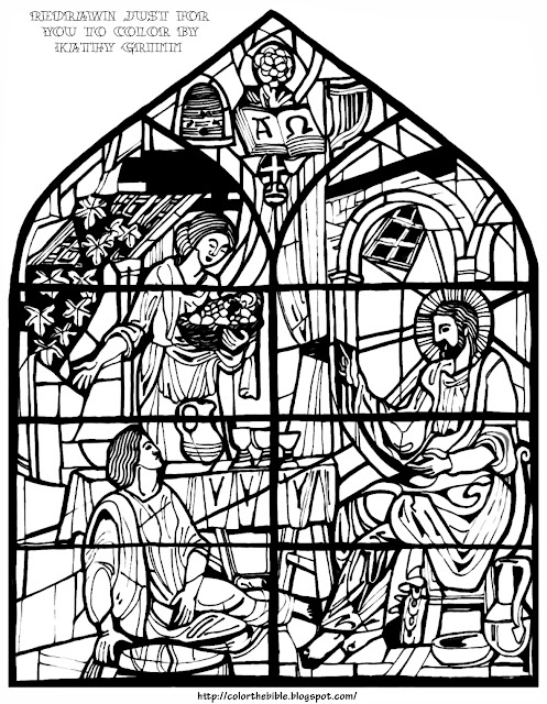 Sisters martha and mary color the bible for Mary and martha coloring page