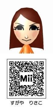 菅谷梨沙子(Berryz工房)のMii QRコード トモダチコレクション新生活