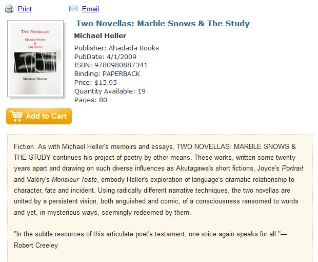 Two Novellas: Marble Snows & The Study