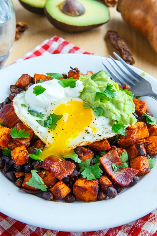 Chipotle Sweet Potato and Black Bean Hash with Guacamole on Closet ...