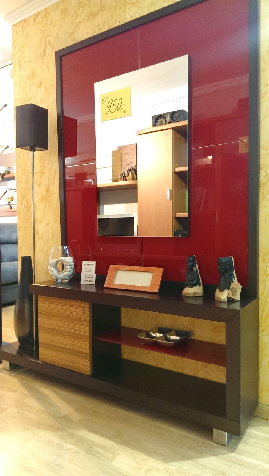 Liquidaci n recibidor ecija rojo muebles industria for Muebles industria