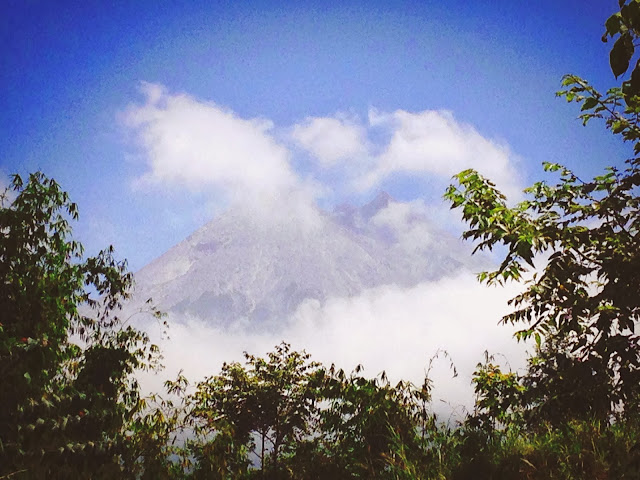 Clouds Playing at Mount Merapi