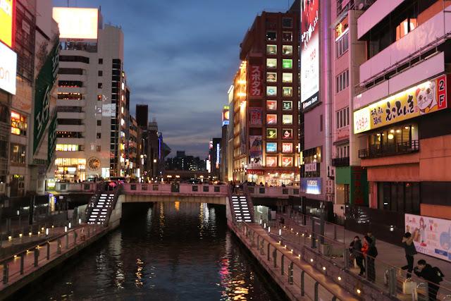 Dotonbori is located around Namba Station, Minami in Osaka downtown, Japan