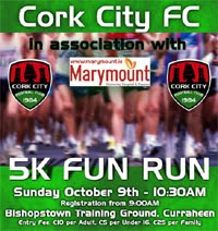 Cork City FC 5k in Curraheen...Sun 9th Oct 2016