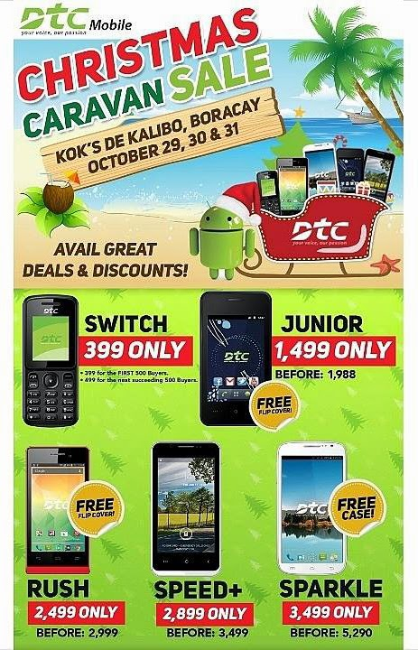 DTC Mobile Christmas Caravan Sale at Boracay Until Tomorrow October 31, 2014