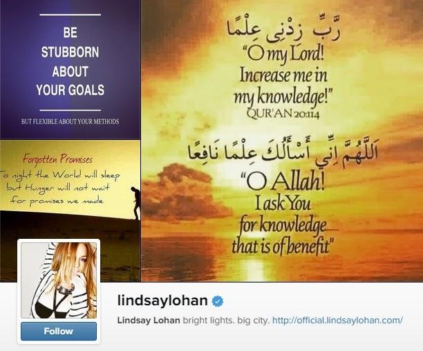 Lindsay Lohan Muat Naik Ayat Al Quran Dalam Akaun Instagramnya Selepas Muat Naik Gambar Seakan Bertudung Sebelum Ini