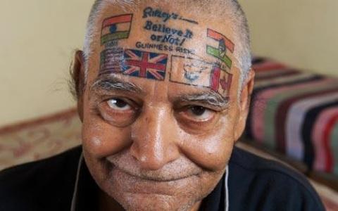 rapper tattoo. rappers tattoos. flag tattoo