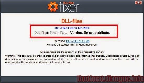 Download DLL-Files Fixer 3.1.81.2919 – Phần mềm sửa lỗi thiếu file .DLL