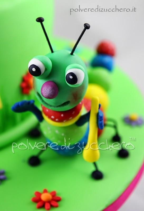 Baby Tv Billye Bam Bam Mick Henry Tully Big Bugs band torta decorata, pasta di zucchero, cake baby tv, polvere di zucchero