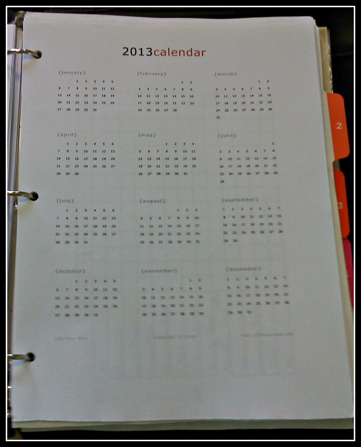 Displaying 16> Images For - Full Page Blank Calendar 2013...