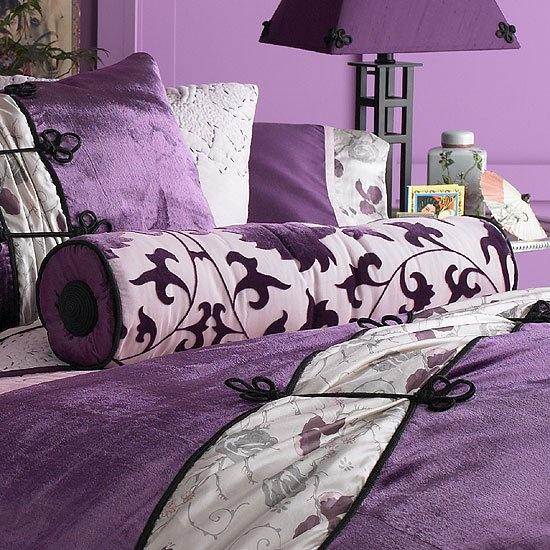 Fotos de dormitorios morados violetas lilas ideas para - Habitacion lila y blanca ...