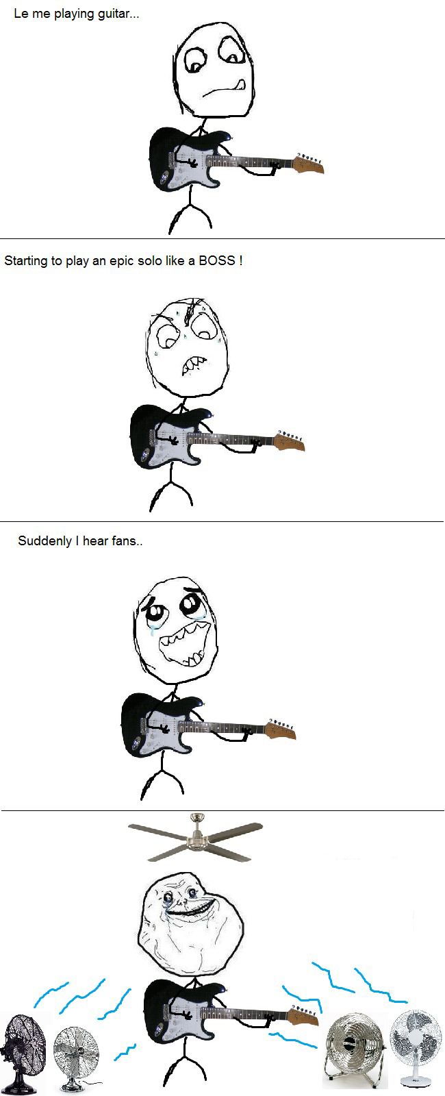 Playing Guitar Solo - Suddenly I Hear Fans - Forever Alone