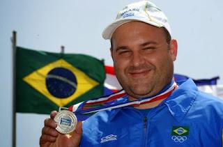 Rodrigo Bastos: Medalha de prata no Pan 2003 - Fossa Olímpica - Tiro ao Prato - Foto: Divulgação/ Site do atleta