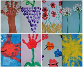 NOU PE CAIETUL CU IDEI: Pictura cu degetele