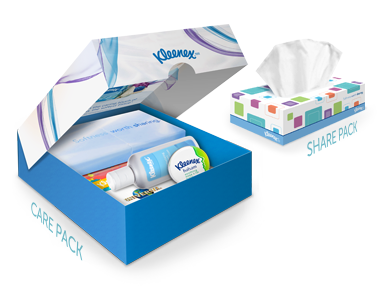 Kleenex Care Packs