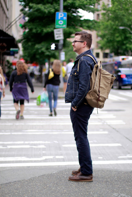 Seattle Street Style Fashion Regis Lacher Denim downtown 