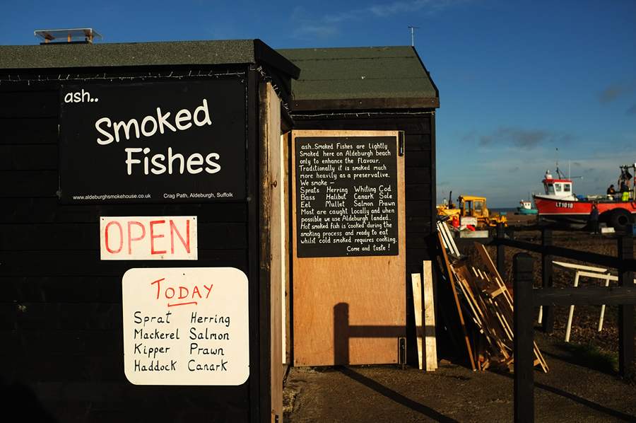 smoked fish, Aldeburgh - Photograph by Tim Irving