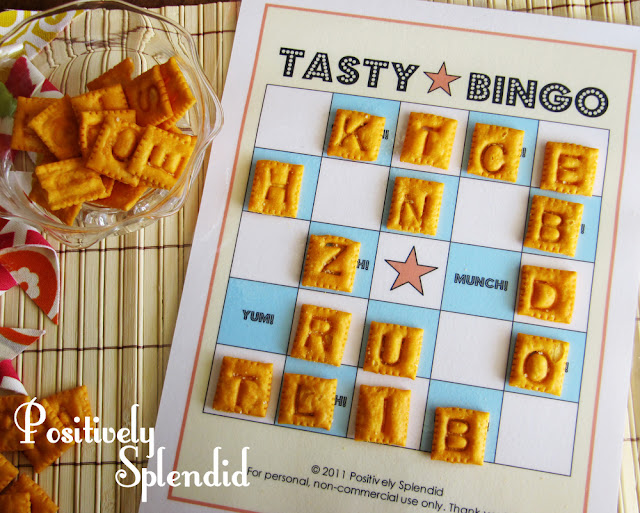 Fun Games: Tasty Bingo w/ Free Printable
