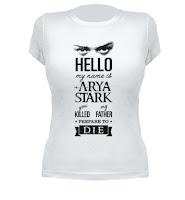 camiseta arya stark chica - Juego de Tronos en los siete reinos