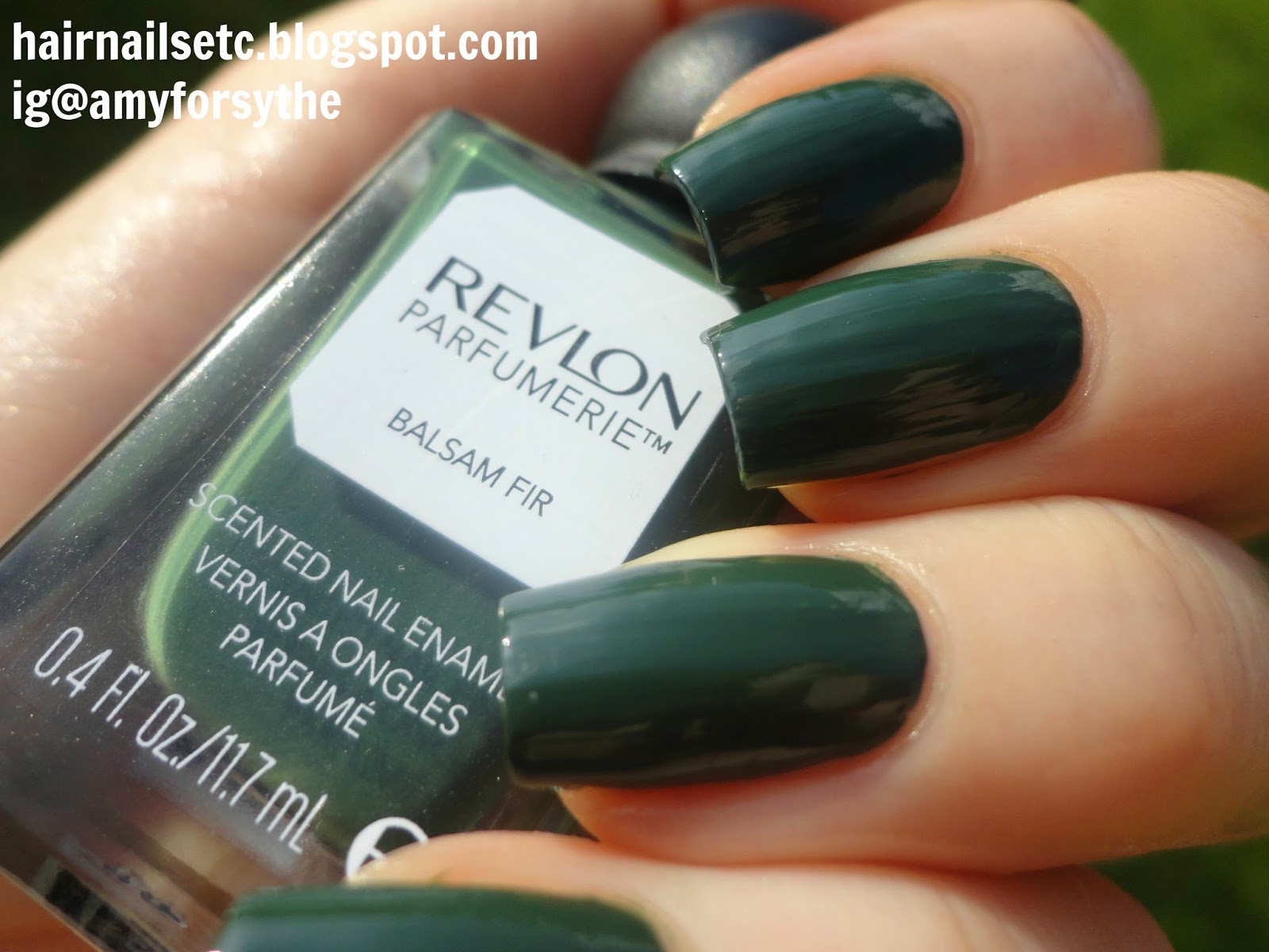 Swatch and review of Revlon Parfumerie Nail Enamel Varnish Polish in Balsam Fir