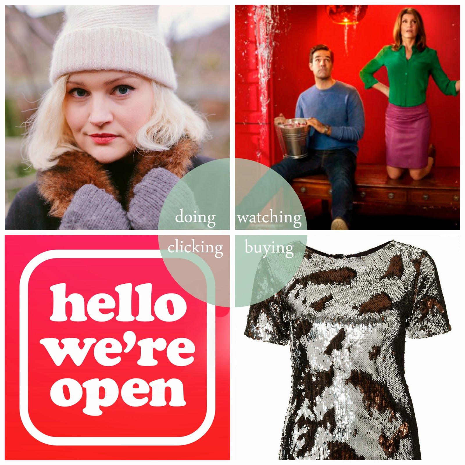 Round up, best bits of January, January, writing, magazine, Mint and Chillies, Channel 4 Catastrophe, Topshop sequin dress, Depop