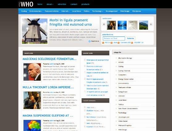 WhosWho WordPress Theme