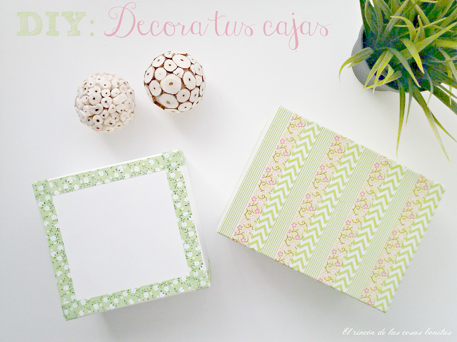 caja decorada washitape fabric tape