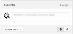 Trik Mudah Memasang Komentar Google Plus di Blogger