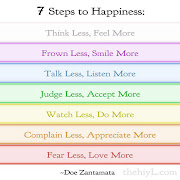 Inspirational Picture Quotes.: 7 Steps to Happiness. (happy)