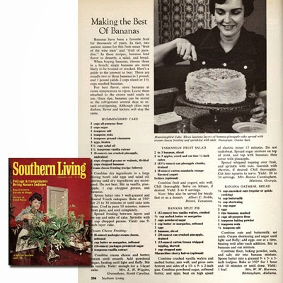 original hummingbird cake recipe in Southern Living Magazine