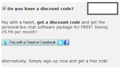 Free live chat software paid with a tweet
