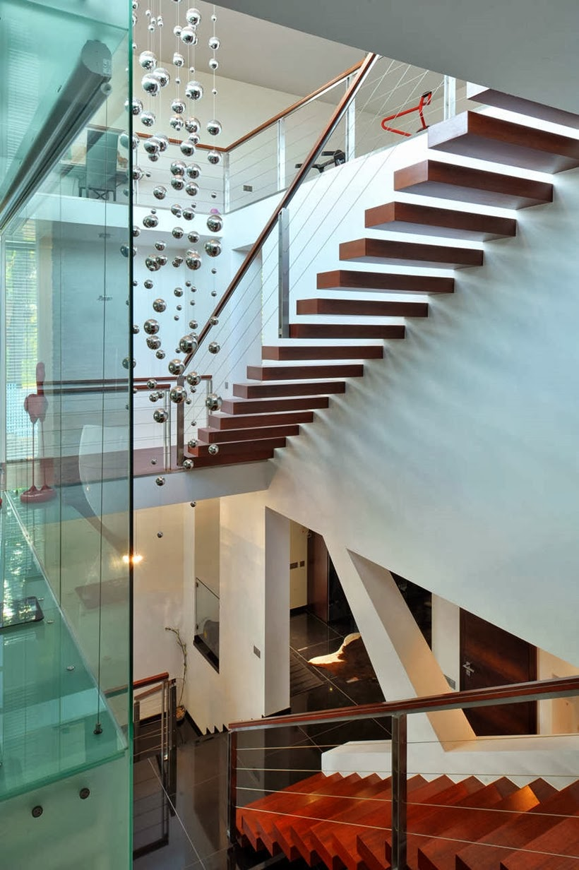 Staircase in Modern home in Krakow, Poland