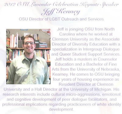 OSU Lavender gradation program 2012 keynote speaker Jeff Kenney