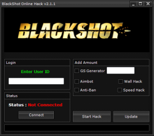hack id and password blackshot