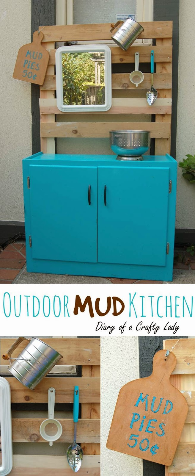 Diary of a Crafty Lady: Outdoor Play Mud Kitchen
