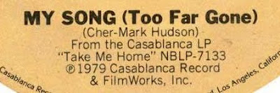 Songwriting credits found on 1979's 'My Song (Too Far Gone) - the B-side of 'Take Me Home'