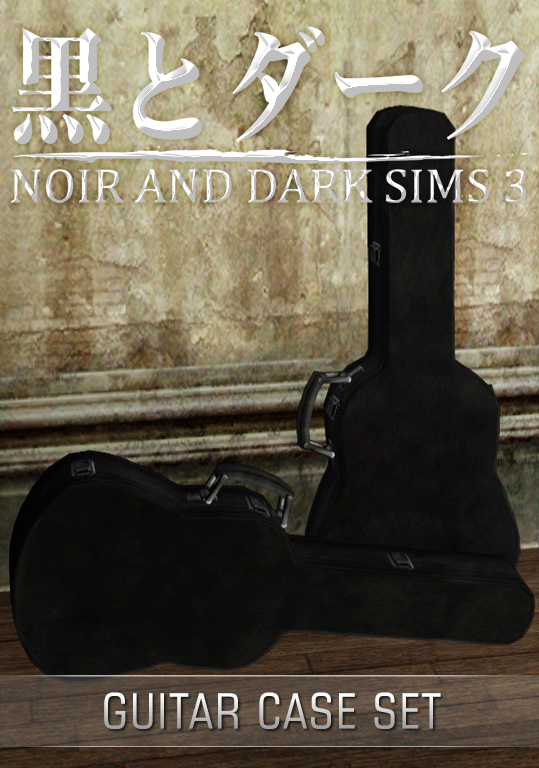 Ts3 guitar case set noir and dark sims for Case the sims 3 arredate